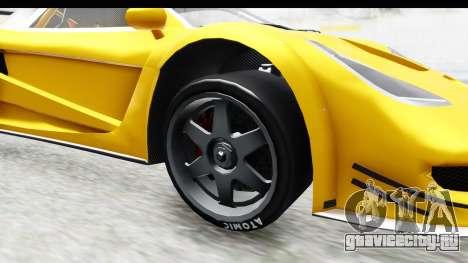 GTA 5 Progen Tyrus IVF для GTA San Andreas вид сзади