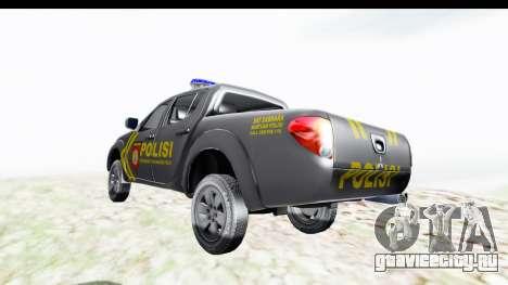 Mitsubishi L200 Indonesian Police для GTA San Andreas вид сзади слева