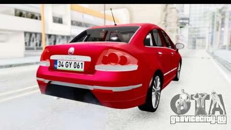 Fiat Linea 2015 v2 для GTA San Andreas вид слева