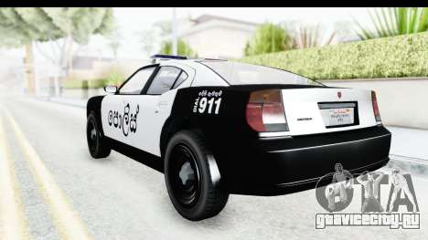 Sri Lanka Police Car v2 для GTA San Andreas вид справа