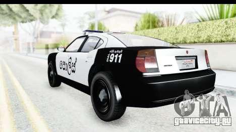 Sri Lanka Police Car v2 для GTA San Andreas вид справа