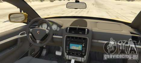 Porsche Cayenne Turbo 2010 для GTA 5 вид сзади слева