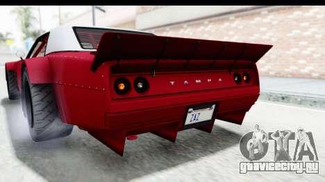 GTA 5 Declasse Drift Tampa IVF для GTA San Andreas вид сверху