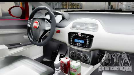 Fiat Linea 2015 v2 для GTA San Andreas вид изнутри
