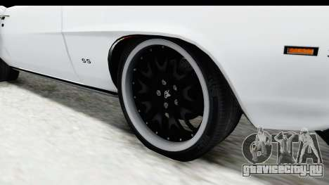 Chevrolet Camaro SS 1968 White Edition для GTA San Andreas вид сзади