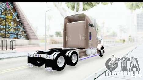 Kenworth T800 Centenario Studio Sleeper Toys для GTA San Andreas вид слева