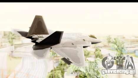 Lockheed Martin F-22 Raptor для GTA San Andreas вид справа