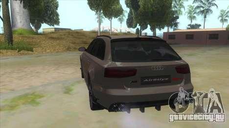 Audi RS6-R для GTA San Andreas вид сзади слева