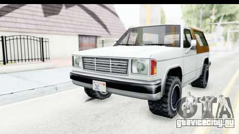 Ford Bronco from Bully для GTA San Andreas вид сзади слева