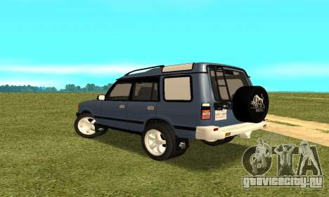 Land Rover Discovery 2B для GTA San Andreas вид сзади слева
