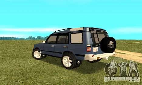 Land Rover Discovery 2B для GTA San Andreas вид сзади слева