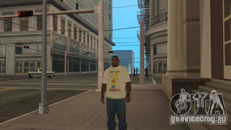 Bart Simpson T-Shirt для GTA San Andreas третий скриншот