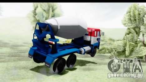 Nissan Diesel UD Big Thumb Cement Babena для GTA San Andreas вид слева