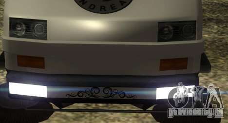 New Sweeper IVF для GTA San Andreas вид сзади слева