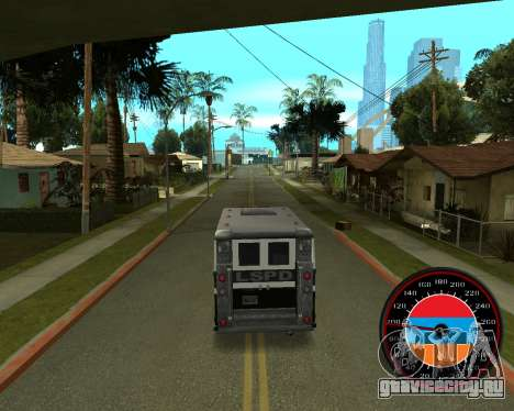 Спидометр в стиле Армянского флага V 2.0 для GTA San Andreas третий скриншот