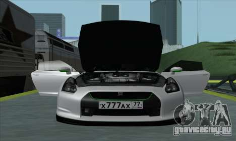 Nissan GT-R R35 Green Screen для GTA San Andreas вид сзади слева