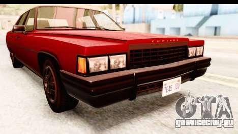 GTA 5 Albany Emperor IVF для GTA San Andreas вид сбоку