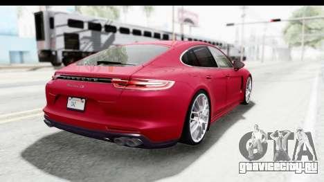 Porsche Panamera 4S 2017 v2 для GTA San Andreas вид справа