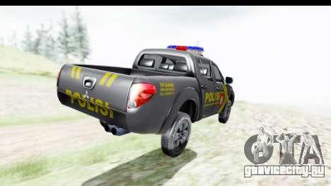 Mitsubishi L200 Indonesian Police для GTA San Andreas вид слева