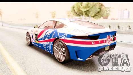 GTA 5 Ocelot Lynx IVF для GTA San Andreas вид снизу
