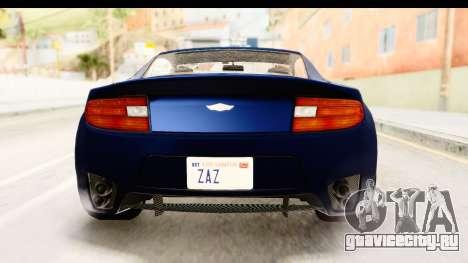 GTA 5 Dewbauchee Rapid GT для GTA San Andreas вид сверху