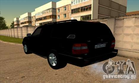 Toyota Land Cruiser 100 для GTA San Andreas вид слева