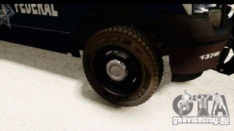 Ford F-150 Federal Police для GTA San Andreas вид сзади