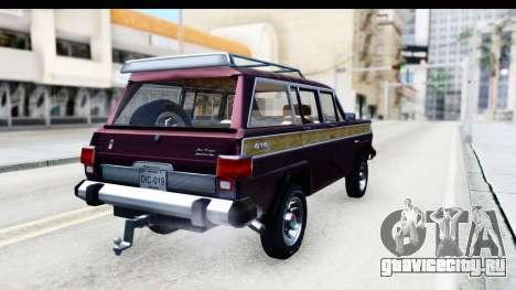 Jeep Grand Wagoneer для GTA San Andreas вид слева