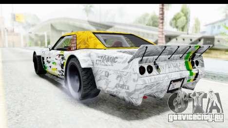 GTA 5 Declasse Drift Tampa для GTA San Andreas вид сбоку