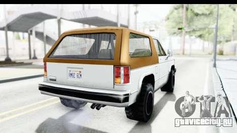 Ford Bronco from Bully для GTA San Andreas вид справа