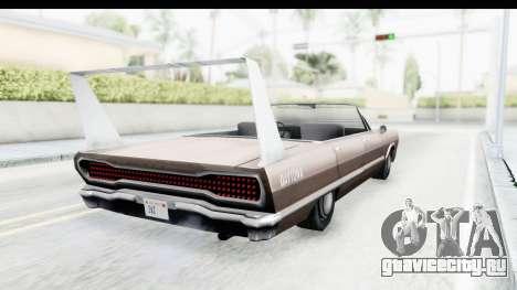 Savanna Daytona для GTA San Andreas вид сзади слева