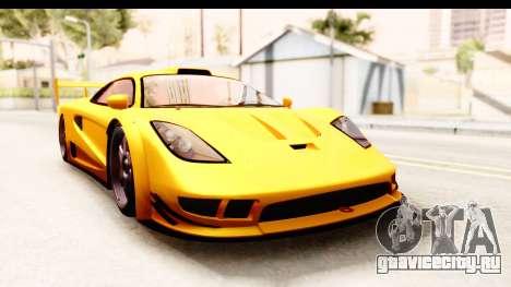 GTA 5 Progen Tyrus SA Style для GTA San Andreas вид слева
