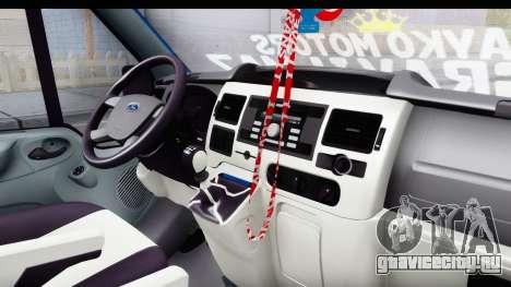 Ford Transit Air для GTA San Andreas вид изнутри