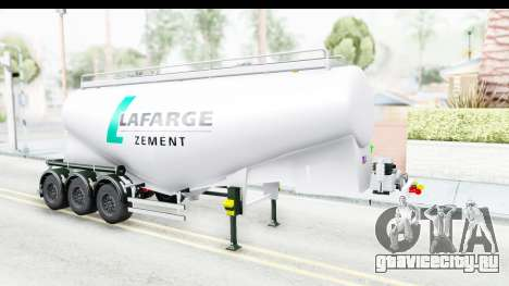Trailer Zement для GTA San Andreas вид справа