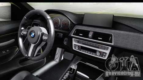 BMW M3 F30 Hulk для GTA San Andreas вид изнутри