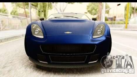 GTA 5 Dewbauchee Rapid GT для GTA San Andreas вид изнутри