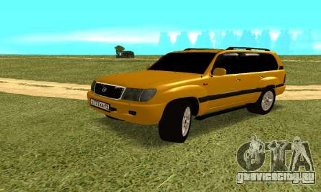 Toyota Land Cruiser 100 VX для GTA San Andreas вид справа
