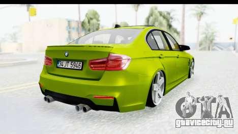 BMW M3 F30 Hulk для GTA San Andreas вид слева