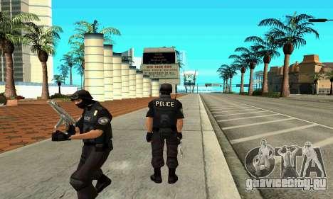 NextGen изменённого оригинального скина SWAT для GTA San Andreas второй скриншот