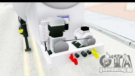 Trailer Zement для GTA San Andreas вид изнутри