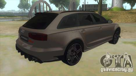 Audi RS6-R для GTA San Andreas вид справа