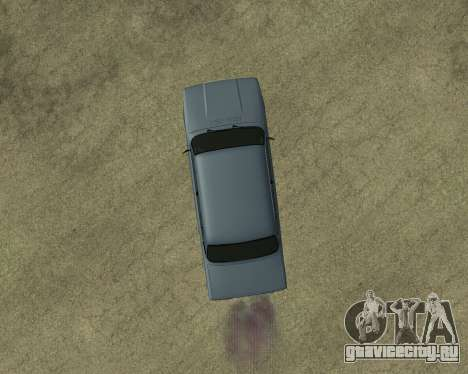 VAZ 2107 Armenian для GTA San Andreas вид сверху