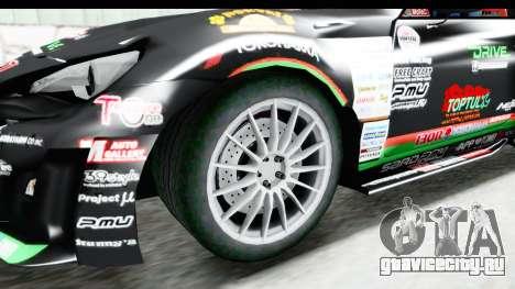 D1GP Toyota 86 2015 DRIVE для GTA San Andreas вид сзади