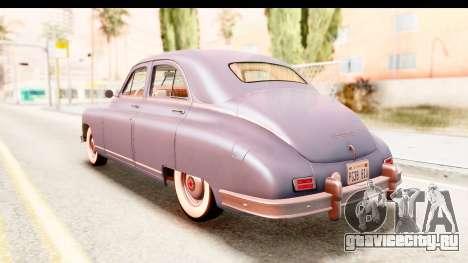 Packard Standart Eight 1948 Touring Sedan для GTA San Andreas вид сзади слева