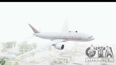 Boeing 777-200LR Qatar Airways для GTA San Andreas