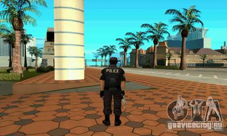 NextGen изменённого оригинального скина SWAT для GTA San Andreas третий скриншот