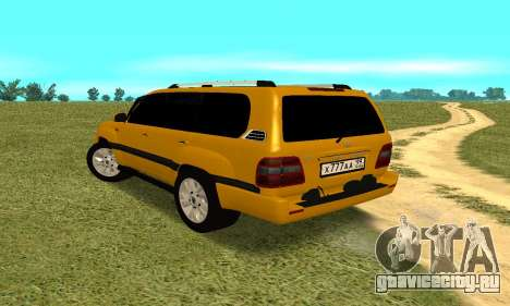 Toyota Land Cruiser 100 VX для GTA San Andreas вид сзади слева