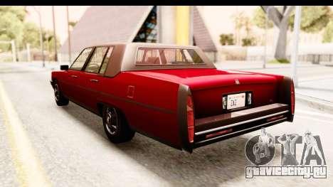 GTA 5 Albany Emperor IVF для GTA San Andreas вид слева