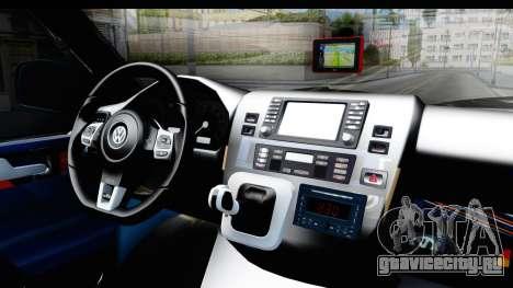 Volkswagen Caravelle для GTA San Andreas вид изнутри