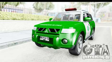Mitsubishi Montero Carabineros Sección SIAT для GTA San Andreas